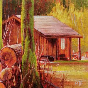 Forest Cabin by Tatjana Mirkov-Popovicki