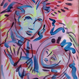 Madonna with Child Study by Jimmy Longoria