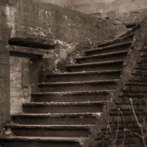 stone staircase by Kelly Sinclair