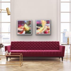 Crimson & Yellow ii by Lesley Birch
