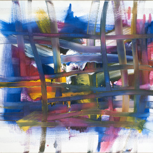 Red-Yellow-Blue + White 10 by Leon Phillips