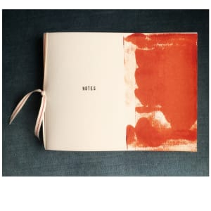 Ribbon bound artist notebook by caroline fraser