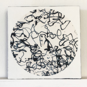 FRA043 mini prints 6x6inch on cradled board by caroline fraser