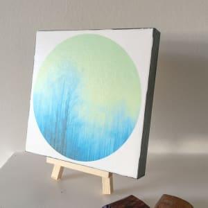 Svolvaer ( blue/green) mini print by caroline fraser
