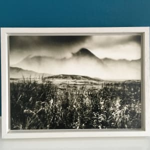 Land of my father 2 - waxed and framed 5x7 in print on Kozo paper by caroline fraser