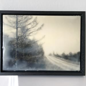 Land of my father 3 - framed encaustic print by caroline fraser