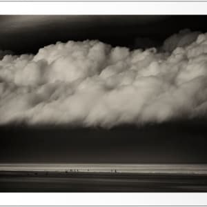 Summer Storm, Camber sands  ( 16 x 11.5 in. Number 7 from an edition of 10. )black wood frame by caroline fraser