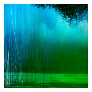 Wakitipu 30x30cm print. Number 4 from edition of 10 by caroline fraser