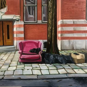 Pink Sofa by Judith Ansems Art
