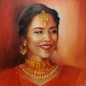 Portrait - Vibha by Monika Gupta