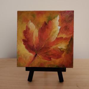 Mini - Fall Leaf by Monika Gupta