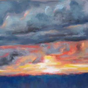 Sunset V - Stormy Evening by Monika Gupta