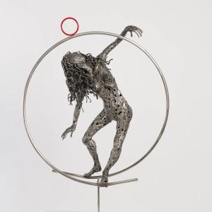 Woman circle life metal sculpture molinaro 2 fkwwym
