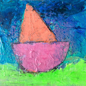 Boat Parade - Pink by Michelle Marra