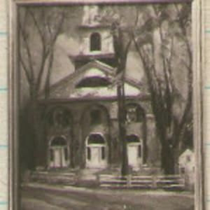 Peterborough Church      1934 by EUGENE KINGMAN