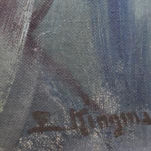 Butte Amidst Sagebrush  c. 1959 by Eugene Kingman
