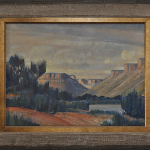 Upper Mancos Canyon  1937 by EUGENE KINGMAN