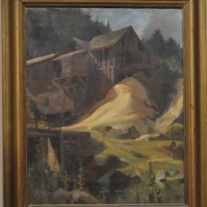 Sawmill (New England)  c. 1930s by EUGENE KINGMAN