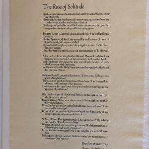 Rose of Solitude by William (Br. Antoninus) Everson