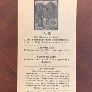 St. Dominic's Press 1930 Calendar by Mary Dudley Short