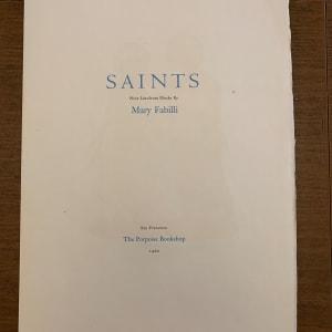 Saints by Mary Fabilli