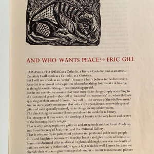 And Who Wants Peace by Eric Gill