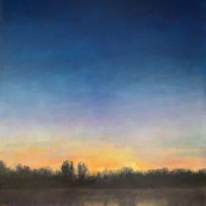 Sunrise and Moonset on Lake Orange  79.1493W 36.1542N