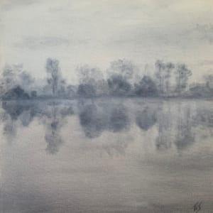 Dawn, Lake Orange (study)   79.1493W 36.1542N