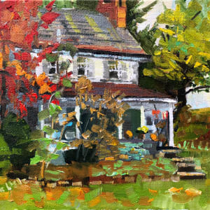 Red Tree next to Worth House by Elaine Lisle