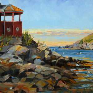 Red House on the Rocks by Elaine Lisle