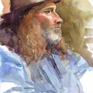 2019 art painting watercolor portrait by kate kos   musician copy tz281x
