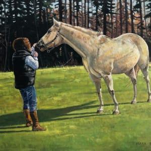 An Encounter With A Horse, River John, Nova Scotia by Mark Brennan