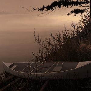 Mist Rising, Whitesand Lake, Tobeatic Wilderness, Nova Scotia