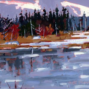 Before Rain, Sporting Lake Stream,  Tobeatic Wilderness, Nova Scotia by Mark Brennan