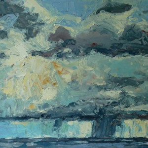 Cloud Burst,  Cap Rouge, Cape Breton Highlands, Nova Scotia by Mark Brennan