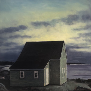 Homestead At Dawn, Seal Island, Southern Nova Scotia by Mark Brennan