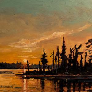 Last Light Perch Lake, Pictou County, Nova Scotia by Mark Brennan