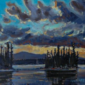 Blue Evening, Mount Carleton, Northern New Brunswick by Mark Brennan
