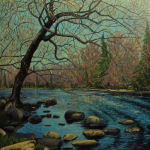 Spring Maple, Mersey River, Kejimkujik National Park by Mark Brennan