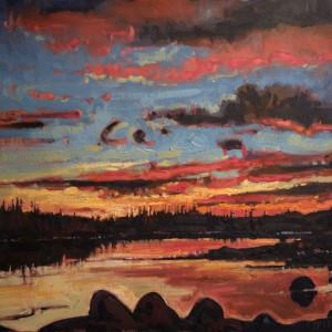 Sunrise, Peggys Cove Preservation Area, Nova Scotia by Mark Brennan