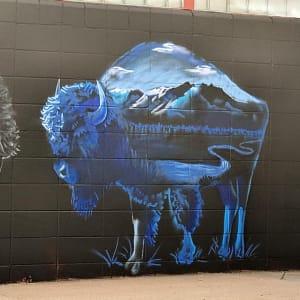 Wyoming Bison by P.J. Sierra