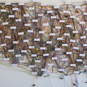 Identity Tapestry (Iteration #12, Marjorie Barrick Museum of Art) by Mary Corey March