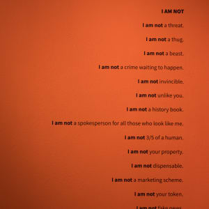 I AM / I AM NOT by Ashley Hairston Doughty  Image: Installation photo by Mikayla Whitmore