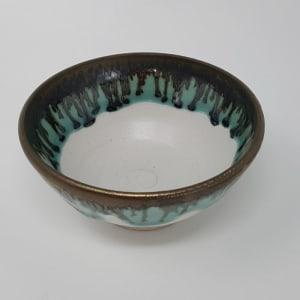 BRI056, Tiny White and Gold Bowl by Jane Bridger