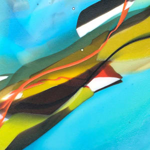 SHI303, Abstract squeeze plate III by Hilary Shields