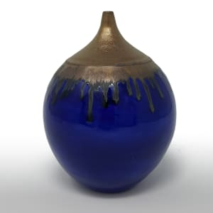 BRI068, Midnight Blues Bottle by Jane Bridger