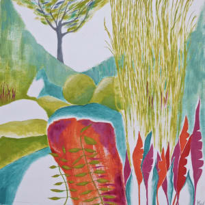 WHI021, Garden Glimpse 7 by Katie Whitbread