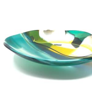 SHI306, Abstract Green Yellow bowl