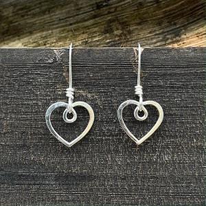 WES203, Heart earrings by Camilla West