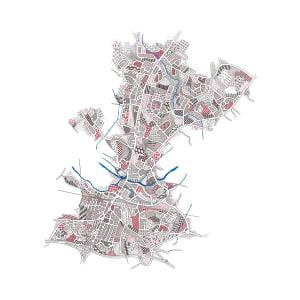 HIG008, Tonbridge map by Christine Highland - Maps